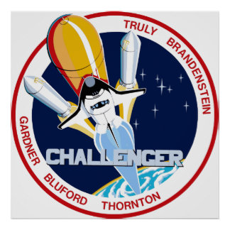 STS-8: Challenger:  1st Night Landing Print