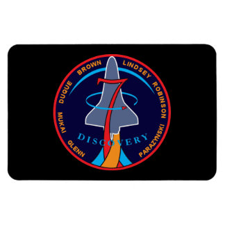 STS-95 Space Shuttle Discovery Mission Patch Rectangular Photo Magnet