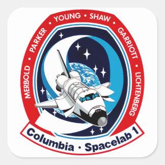 STS 9 Columbia: SKYLAB Square Sticker
