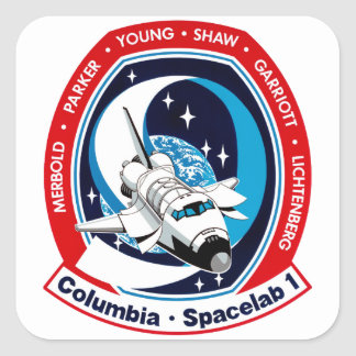 STS 9 Columbia: SKYLAB Square Stickers