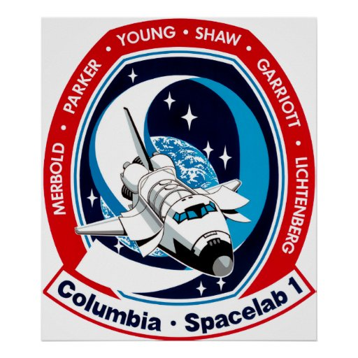 STS-9 Columbia:  SPACELAB Poster