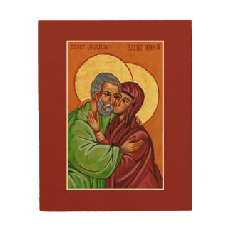 Sts. Anna & Joachim - Icon of Marital Love Wood Print