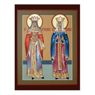 Sts. Catherine and Alexandra Prayer Cards Postcard