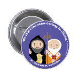 Sts. Cyril and Methodius 6 Cm Round Badge