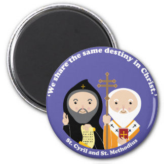 Sts. Cyril and Methodius 6 Cm Round Magnet
