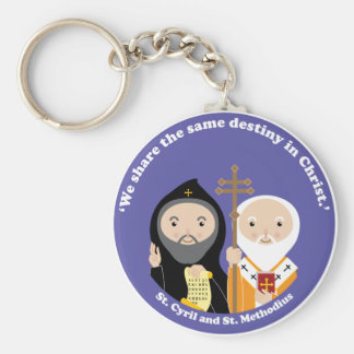 Sts. Cyril and Methodius Basic Round Button Key Ring