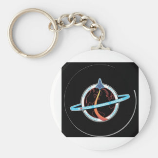 STS-Space Shuttle Transport - Final nasa launch Basic Round Button Key Ring
