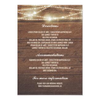 Sttring Lights Rusti Wood Wedding Details 11 Cm X 16 Cm Invitation Card