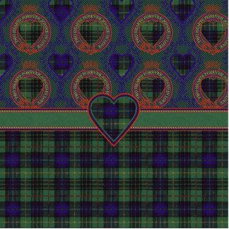 Stuart clan Plaid Scottish kilt tartan Photo Sculpture Key Ring
