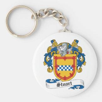 Stuart Family Crest Basic Round Button Key Ring