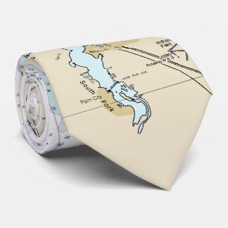 Stuart Florida St. Lucie Authentic Nautical Chart Tie