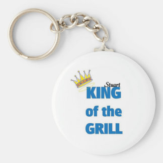 Stuart king of the grill key chains