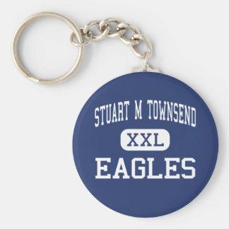 Stuart M Townsend Eagles Middle Lake Luzerne Basic Round Button Key Ring