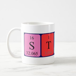 Stuart periodic table name mug
