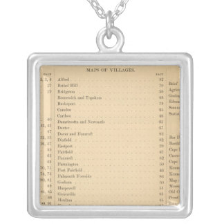 Stuart's atlas of the state of Maine Silver Plated Necklace