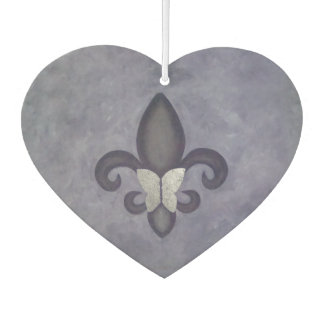 Stubborn Auto | Purple Fade Butterfly Fleur de Lis Car Air Freshener