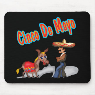 Stubborn Donkey Cinco de Mayo T-shirts and Gifts Mouse Pad