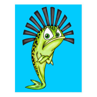 Stubborn Fish Post Card