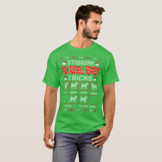 Stubborn Jack Russell Terrier Dog Christmas Ugly T-Shirt