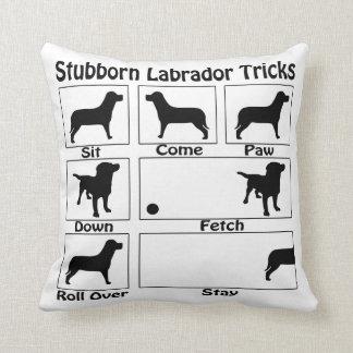 Stubborn Labrador Tricks Cushion