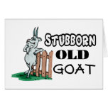 Stubborn Old Goat Greeting Card