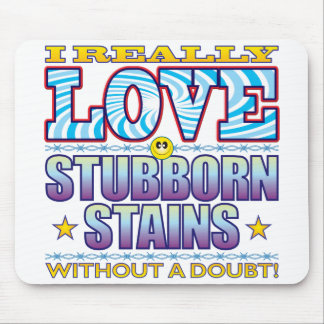 Stubborn Stains Love Face Mouse Pad