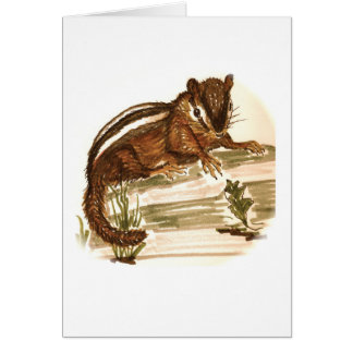 Stubby the Chipmunk Birthday Card
