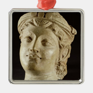 Stucco head, Gandhara, 4th century AD Christmas Ornament