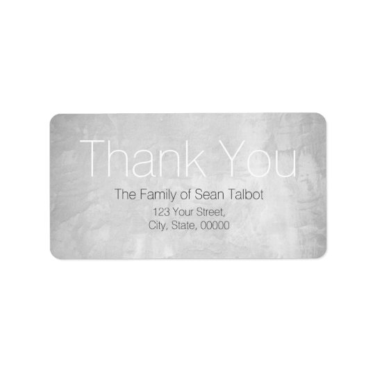 Stucco Modern Thank you Address label