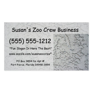 Stucco plaster wall background texture business card template