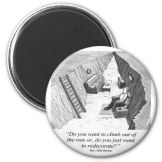 Stuck in a Rut 6 Cm Round Magnet