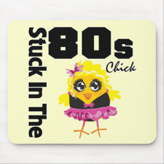 Stuck in the 80s Chick Mouse Pad