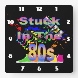 Stuck in the 80s wall clocks