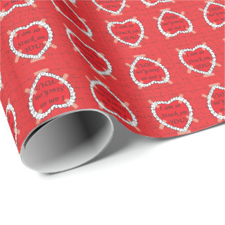 Stuck On You Valentine 2 Wrapping Paper