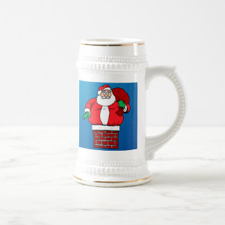Stuck Santa (Customize it!) Beer Stein
