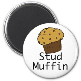 Stud Muffin Boy 6 Cm Round Magnet