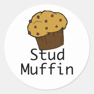 Stud Muffin Boy Classic Round Sticker