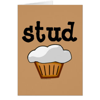 Stud Muffin Cute Funny Baked Good Greeting Card
