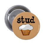 Stud Muffin, Cute Funny Baked Good Pin