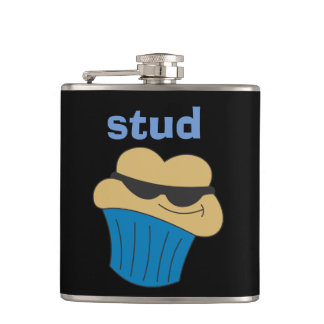 Stud Muffin Humorous Hip Flask for Him