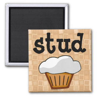 Stud Muffin Square Magnet