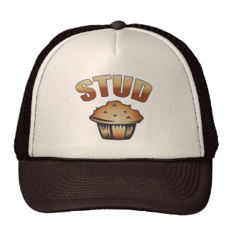 Stud Muffin Wash Design Mesh Hats