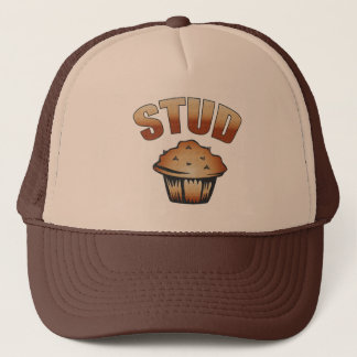 Stud Muffin Wash Design Trucker Hat
