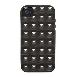 Studded Black Leather Case For The iPhone 4