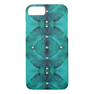 Studded Floor Pattern in Aqua Blues iPhone 8/7 Case