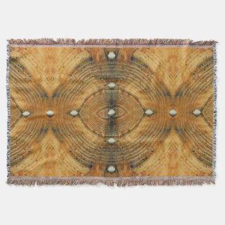 Studded Floor Pattern in Golden Browns Throw Blanket