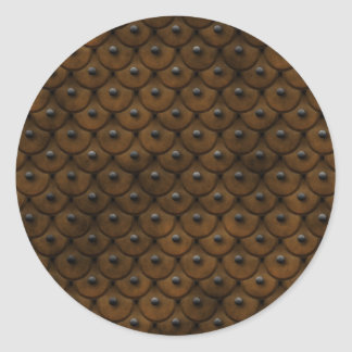 Studded Leather is stylish Classic Round Sticker