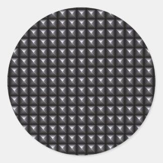 Studded Steel Texture Classic Round Sticker