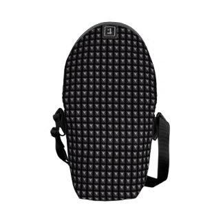Studded Steel Texture Messenger Bag