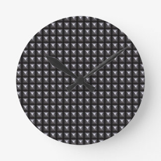 Studded Steel Texture Wallclocks